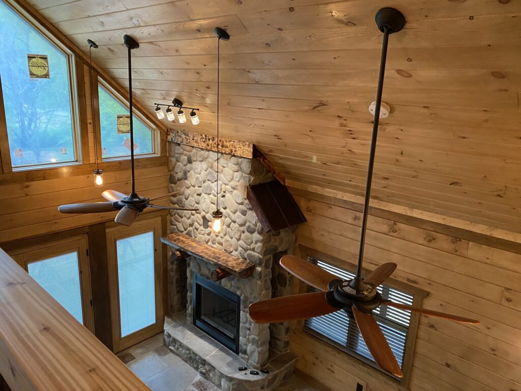 Residential Log Cabin built by Smoky Top Construction in Cosby, Tennessee.